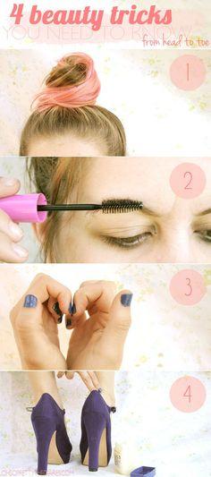 4 Beauty Tricks Tricks from Head to Toe - #beautytricks #beautytips #beauty - bellashoot.com