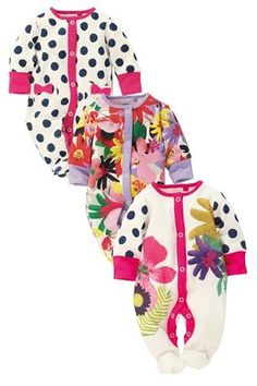 £17 Tropical Floral Sleepsuits Three Pack (0mths-2yrs) from the Next UK online shop