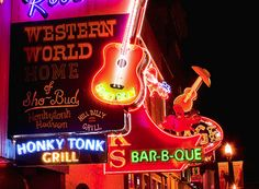 Spend some free time on Broadway in Nashville checking out the honky tonk music venues with local artists performing nightly