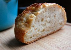 Garlic-Tuscan Herb Loaf. Crusty bread - no knead, baked in a dutch oven.