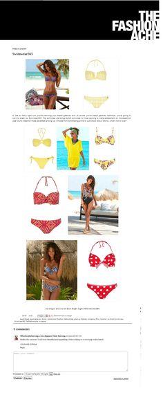 Buffalo Blue Vintage Floral Print Bandeau Bikini || Buffalo Yellow Checked Bandeau Bikini || Buffalo Yellow Cup-Ring Bandeau Bikini Top || Buffalo London Yellow Batwing Top || Buffalo Yellow Print Sparkling Underwired Bikini || Sunflair Black Ornate Print Swimsuit #Swimwear365