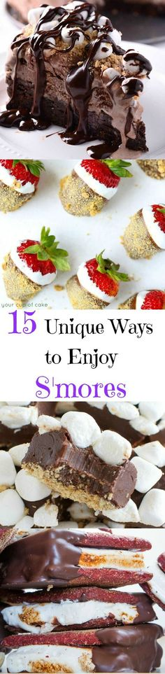15 Unique Ways to Enjoy S'mores