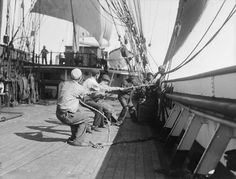 Sailors working onboard the 'Parma' by National Maritime Museum, via Flickr