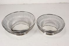 2 Gorham Silverplate Centerpiece Baskets 741 & 742 Imported From Italy EP In USA
