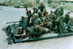 River Crossing in an M113 Armored Personnel Carrier. Binh Thuan, 1970.