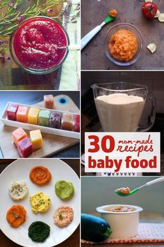 30 mom made baby food recipes **I would check ea as not 100% sure all are the healthiest for baby...