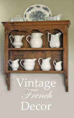 Vintage French Decor #CountryFrenchDesign #vintage www.cedarhillfarmhouse.com