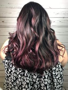 Absolutely beautiful balayaged hair then glazed with magenta 😈