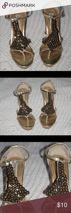 Steve Madden wedges Steve Madden embellished cork wedges. Perfect for spring! Steve Madden Shoes Wedges