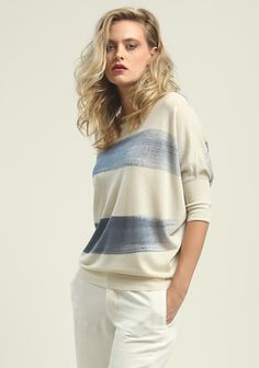 Zoe Couture from Los Angeles hand painted knit top