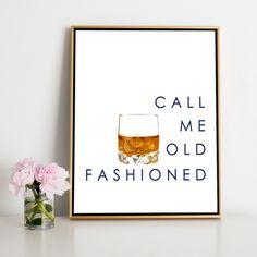 Call Me Old Fashioned Canvas - Future Bar/basement decor Home Bar Decor, Bar Cart Decor, Diy Bar Cart, Kitchen Decor, Home Bar Signs, Kitchen Design, Diy Home Bar, Modern Home Bar, Pub Decor