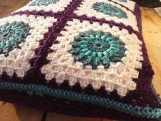 Vibrant Purple, Petrol and Teal Crocheted Cushion. £30.00, via Etsy.