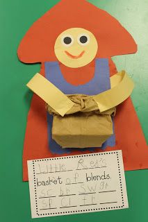Red Riding hood and blends - write blends then put pics in her basket with those blends - sorting activity