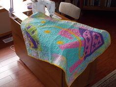 Baby Quilts and Diaper bags - Quilt just being finished.