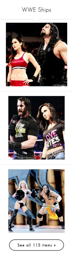 """""""WWE Ships"""" by godslastgift ❤ liked on Polyvore featuring wwe manip, wwe, manip, manips, wwe couples, home, home decor, accessories, misc and dean ambrose"""
