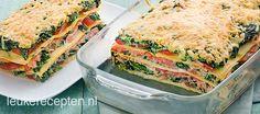 Beginnen met spinazie en boursine gebruiken ipv ricotta