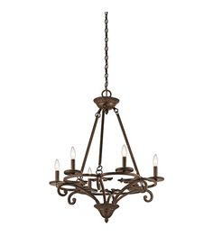 Kichler 43771AGZ Caldella 6 Light 27 inch Aged Bronze Chandelier Ceiling Light #LightingNewYork Bronze Chandelier, Chandelier Ceiling Lights, Bronze Finish, Home Decor, Decoration Home, Room Decor, Interior Decorating