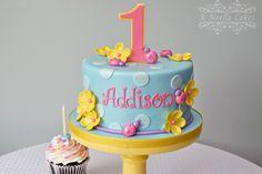 Ladybug 1st Birthday cake by K Noelle Cakes