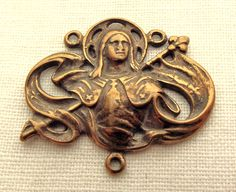 Amazing! Bronze St. Joan of Arc Centerpiece. $17.75, via Etsy.