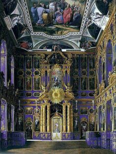 Church of Resurrection at the Catherine Palace, Saint Petersburg, Russia.