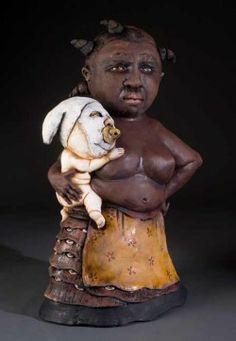 James Tisdale, gorgeous hand built ceramic sculpture