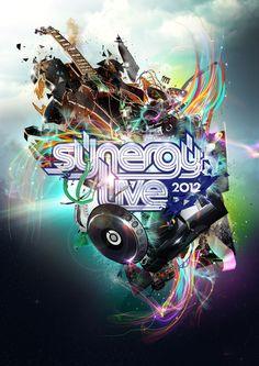 Synergy Live 2012 by Chris Slabber, via Behance