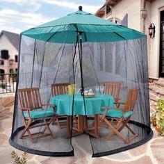 Umbrella Mosquito Net Canopy Patio Table Set Screen House   Premium Netting  Standard Size   Walmart.com