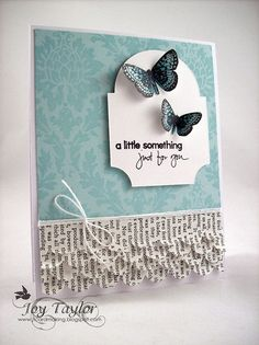 Paper Card Making Ideas! So timely, I have lots of paper I need to use.
