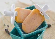 Ginger Peach Popsicles. Might also work well with small pieces of stem ginger left in the popsicle?