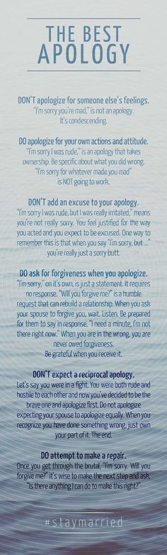 The Best Apology - How to say sorry like you mean it. #staymarried https://wiseweddingplanning.wordpress.com/put-and-end-to-unfulfilling-relationships/