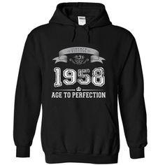 Made In 1958- Vintage - #groomsmen gift #funny hoodie. FASTER => https://www.sunfrog.com/LifeStyle/Made-In-1958-Vintage-vkaid-Black-6395909-Hoodie.html?id=60505