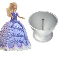 WellieSTR Barbie Doll cake mold Princess Dress Fondant Cake Decoratedress cake mould cartoon aluminum baking Mold >>> Details can be found by clicking on the image.