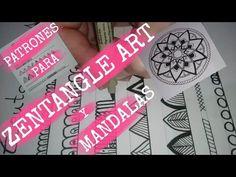 Ejemplos de patrones para zentangle art y mandalas faciles que yo suelo usar/Examples of easy patterns for zentangle art and mandalas I usually use. Hamsa, Easy Patterns, Zentangles, Art Ideas, Doodles, English, Box, Youtube, Mandalas