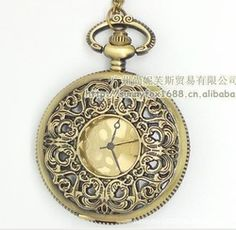 Online Shop Ebay selling wholesale sweater chain hollow face new large gold pocket watch retro stenciling|Aliexpress Mobile