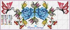 This Pin was discovered by Bon Butterfly Cross Stitch, Cross Stitch Rose, Cross Stitch Flowers, Cross Stitch Patterns, Vintage Cross Stitches, Hardanger Embroidery, Baby Supplies, Filet Crochet, Needlepoint