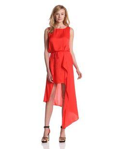 Bcbgmaxazria Women's Urika Woven Dress, Bright Poppy, X-small