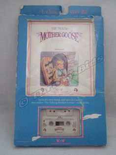 1986 Talking Mother Goose Fairy Tales RAPUNZEL Book Audio Cassette Worlds Wonder #WorldsofWonder