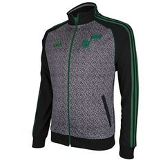 Utah Jazz Adidas NBA Static Jacket (Charcoal Gray)