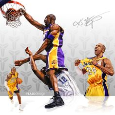 Kobe Bryant for the Los Angeles Lakers dunks over Dwight Howard for the Orlando Magic welcoming him to the NBA.