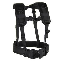 Blackhawk-35LBS1BK-Black-Load-Bearing-Suspenders-Harness-w-Wrap-Around-Belt-Loop