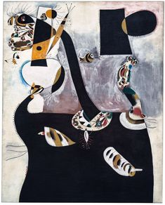 Joan Miró, Seated Woman II, February 27, 1939, Paris. Oil on canvas, 63 3/4 x 51 3/16 inches (162 x 130 cm)