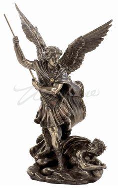 St. Michael Archangel Slaying The Demon w/Spear Statue