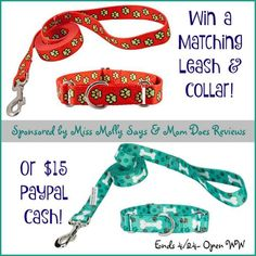 #Win a matching Martingale Collar and Leash Set (winner's choice of size and color/pattern) OR $15 Paypal Cash! - ends 4/24 Open WW