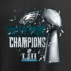a0c6ebfd6 Men s Philadelphia Eagles NFL Pro Line by Fanatics Branded Black Super Bowl  LII Champions Lombardi Parade T-Shirt