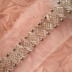 Silver Beaded Lace Trim Sequined Trim 1 Yard For Costume Wedding Dress Belt Bria.- Silver Beaded Lace Trim Sequined Trim 1 Yard For Costume Wedding Dress Belt Brial Sash Jewelry Desig- Hand Embroidery Dress, Bead Embroidery Patterns, Couture Embroidery, Embroidery Suits, Embroidery Fashion, Hand Embroidery Designs, Beaded Embroidery, Bead Embroidery Tutorial, Zardozi Embroidery