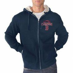 Boston Red Sox 2013 MLB World Series Champions Full Zip Sherpa Jacket - Navy Blue