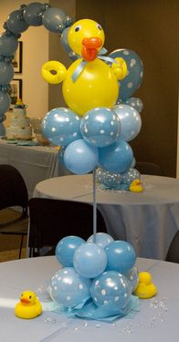 Rubber Ducky Baby Shower, Ducky Baby Showers, Balloon Centerpieces, Baby  Shower Centerpieces, Balloon Decorations, Balloon Arrangements, Balloon  Ideas, ...