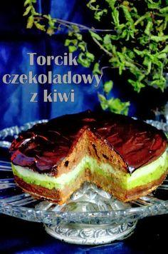 Torcik czekoladowy z kiwi