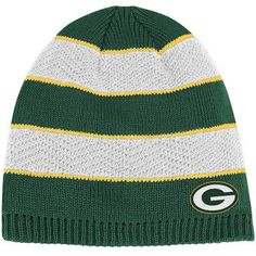 Green Bay Packers Ladies' Textured Stripe Knit Hat