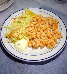 #marisco La Gamba de ORO http://www.lagambadeoro.es/tienda-online.php Fotos de clientes abril 2013 Os animamos a mandar más. Colas de alistado Fritas